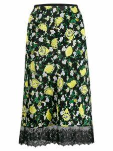 DVF Diane von Furstenberg lemon print skirt - Black
