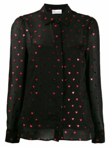 Red Valentino sheer heart shirt - Black