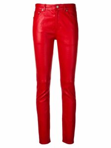 Saint Laurent slim-fit trousers - Red