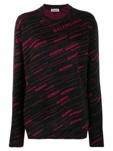 Balenciaga Diagonal logo sweater - Black