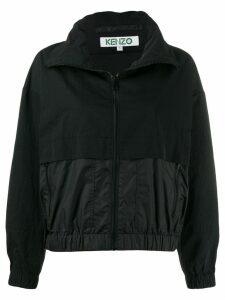 Kenzo high neck logo jacket - Black