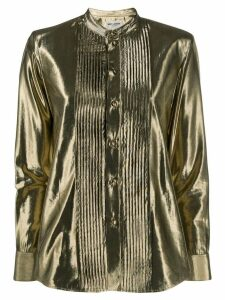 Saint Laurent button-down metallic shirt - Gold