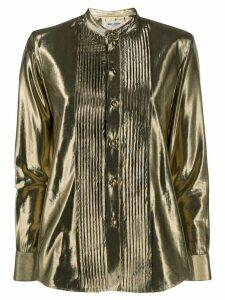 Saint Laurent button-down metallic shirt - Gold