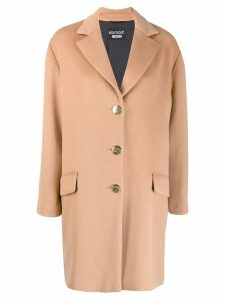 Boutique Moschino single breasted coat - Brown