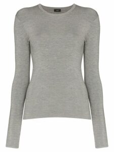 Joseph stretch-knit long-sleeve top - Grey