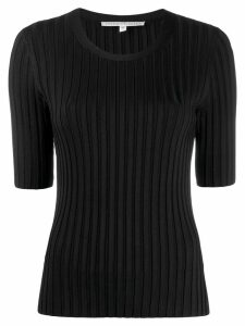 Veronica Beard short-sleeve fitted sweater - Black