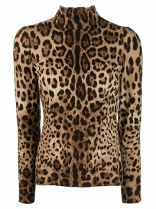 Dolce & Gabbana leopard print top - NEUTRALS