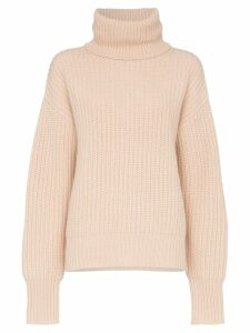 Joseph roll-neck chunky sweater - Neutrals