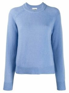 GANNI fine knit jumper - Blue