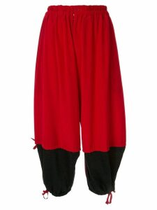 Y's contract balloon trousers - Red
