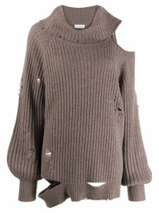 Faith Connexion distressed roll-neck jumper - Brown