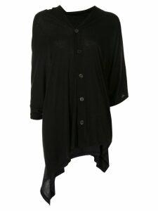 Y's asymmetric cardigan - Black
