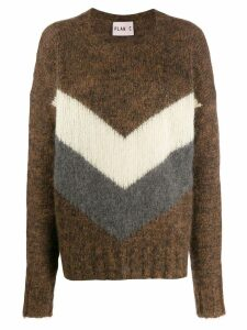 Plan C chevron jumper - Brown