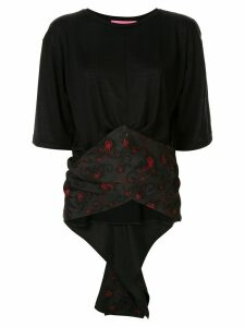 Y's crossover waist shirt - Black