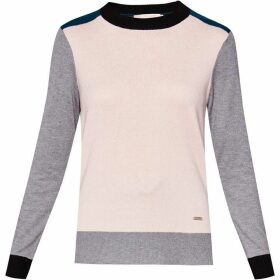 Ted Baker Avrilyn Cbn Colour Blocked Jumper