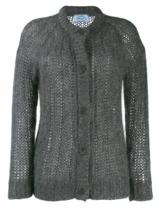 Prada chunky knit cardigan - Grey