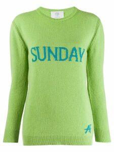 Alberta Ferretti Sunday intarsia jumper - Green