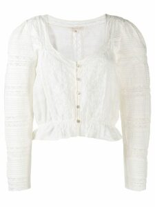 LoveShackFancy Sabrina blouse - White
