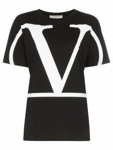 Valentino VLOGO print T-shirt - Black
