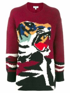 Kenzo oversized tiger jumper - Red