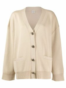 Toteme oversized cardigan - NEUTRALS