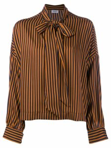 LIU JO pussy bow striped blouse - Black