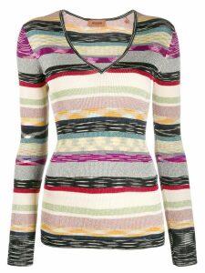 Missoni striped ribbed jumper - NEUTRALS