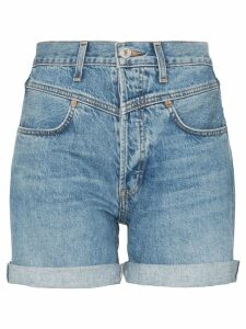 RE/DONE '90s turn-up denim shorts - Blue