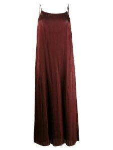 Uma Wang sleeveless midi dress - Red