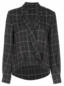 Sally Lapointe check print blouse - Black