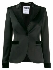 Moschino two tone blazer - Black