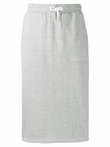 SJYP drawstring waist midi skirt - Grey