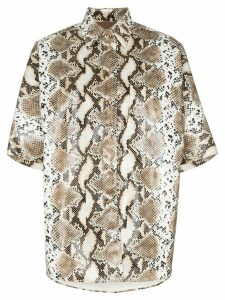 pushBUTTON python-print shirt - NEUTRALS