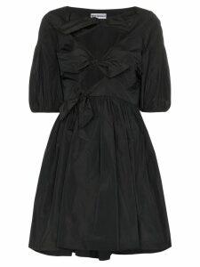 Molly Goddard Natasha bow-detail mini dress - Black