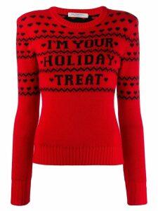 Philosophy Di Lorenzo Serafini 'I'm your holiday treat' jumper - Red