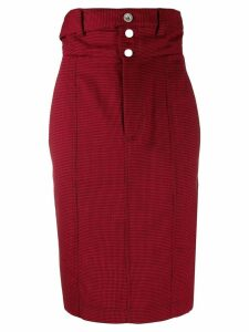 UNRAVEL PROJECT high-waisted pencil skirt - Red