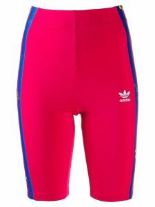 Adidas striped floral running shorts - Pink