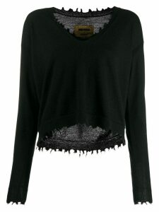 Uma Wang distressed cashmere jumper - Black