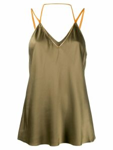 Helmut Lang flared camisole top - Green