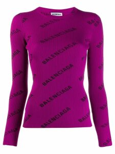 Balenciaga L/S crew neck jumper - PURPLE