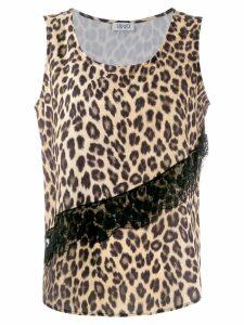 LIU JO leopard print vest - Yellow