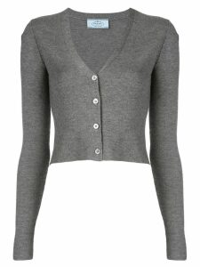 Prada knitted slim-fit cardigan - Grey
