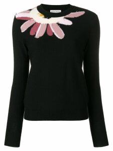 Sonia Rykiel flower neckline jumper - Black