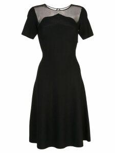 Oscar de la Renta sheer panel midi dress - Black