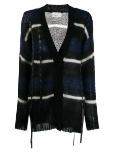 3.1 Phillip Lim Oversized Striped Cardigan - Black