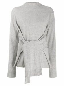 Karl Lagerfeld knot detail jumper - Grey
