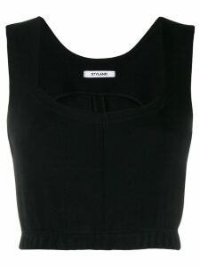 Styland cropped tank top - Black