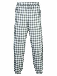Opening Ceremony plaid track pants - Black