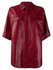 Karl Lagerfeld snap-button shirt jacket - Red
