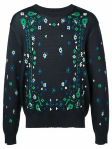 Opening Ceremony jacquard bandana sweater - Blue